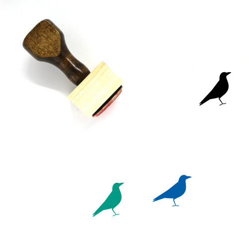 Crow Wooden Rubber Stamp No. 7