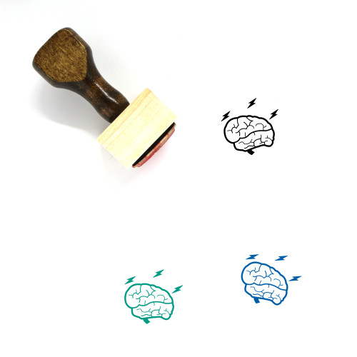 Brainstorm Wooden Rubber Stamp No. 39
