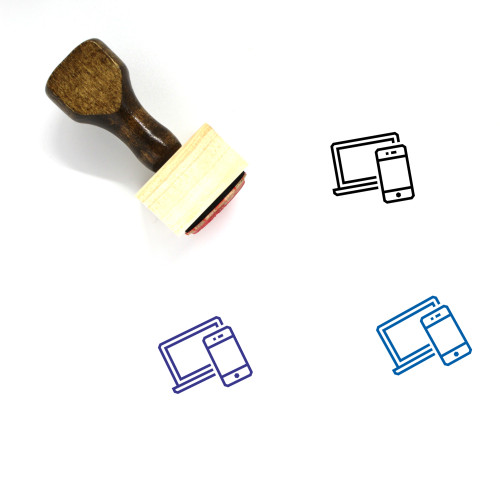 Devices Wooden Rubber Stamp No. 80