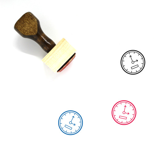 Wall Clock Wooden Rubber Stamp No. 5