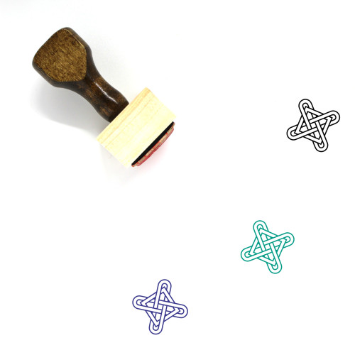 Knot Wooden Rubber Stamp No. 28