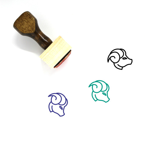 Capricorn Wooden Rubber Stamp No. 25
