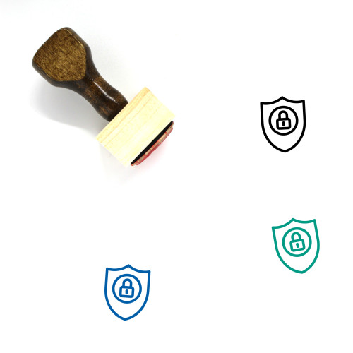 Encryption Wooden Rubber Stamp No. 25