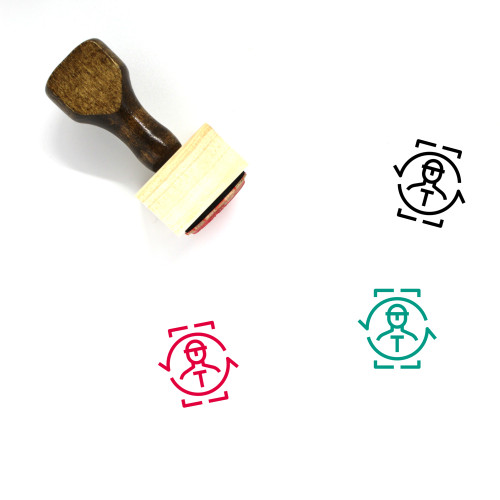 Human Resource Wooden Rubber Stamp No. 76