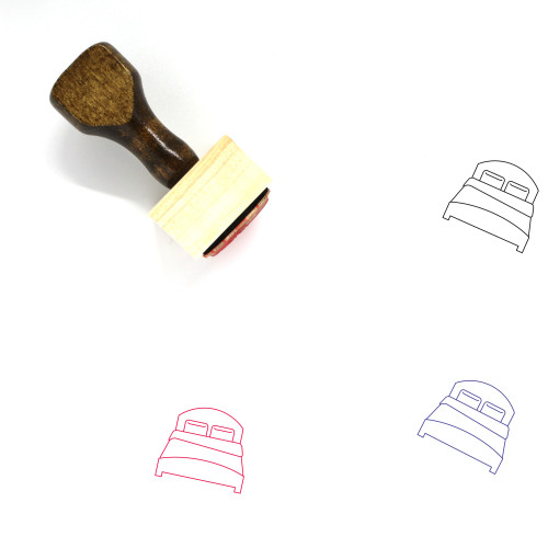 Bed Wooden Rubber Stamp No. 79