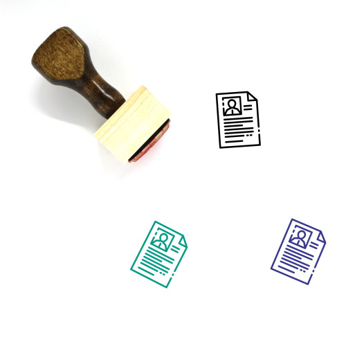 Personal Profile Wooden Rubber Stamp No. 4