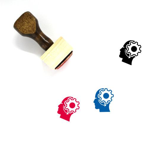 Brain Process Wooden Rubber Stamp No. 6