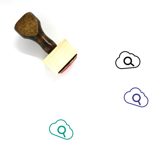 Cloud Search Wooden Rubber Stamp No. 67