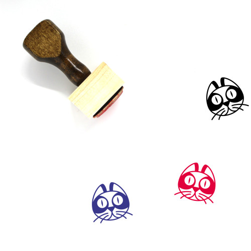 Cat Wooden Rubber Stamp No. 178