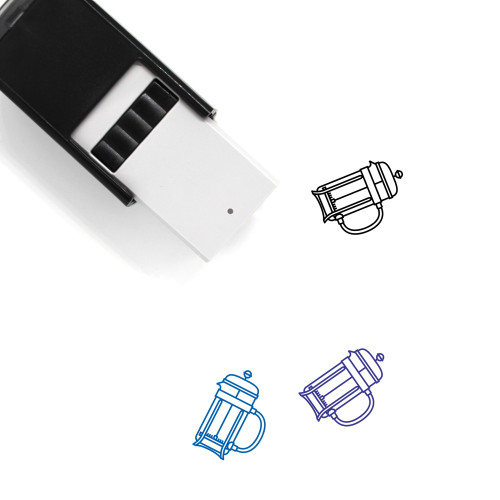 French Press Self-Inking Rubber Stamp No. 14