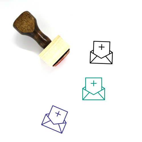 Add Letter Wooden Rubber Stamp No. 5