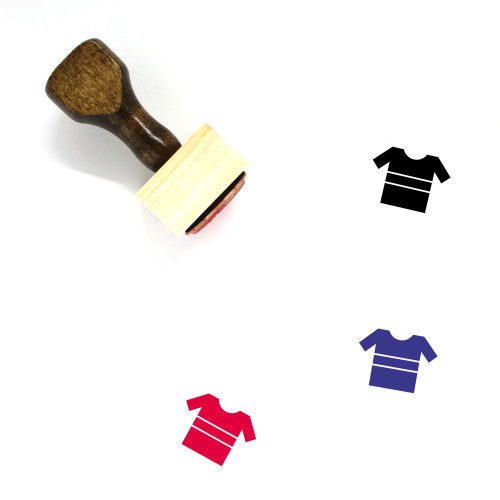 Shirt Wooden Rubber Stamp No. 196