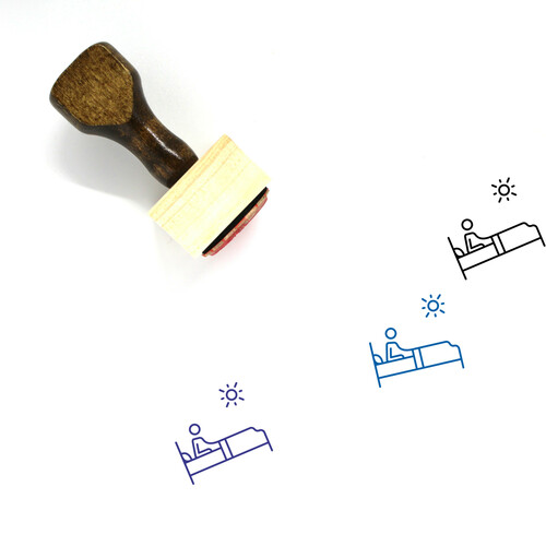 Wake Up Wooden Rubber Stamp No. 9