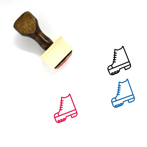 Shoes Wooden Rubber Stamp No. 58