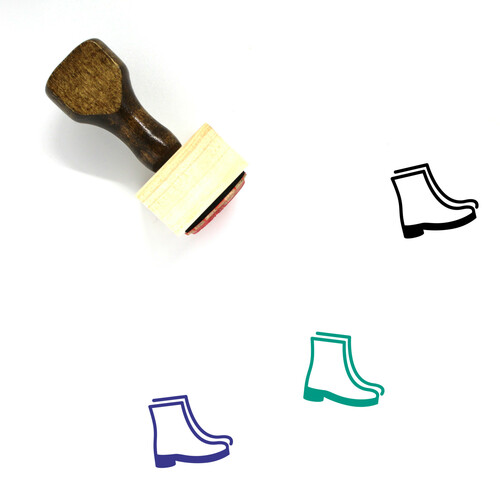Boots Wooden Rubber Stamp No. 69