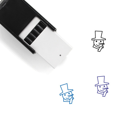 Snowman Self-Inking Rubber Stamp No. 98