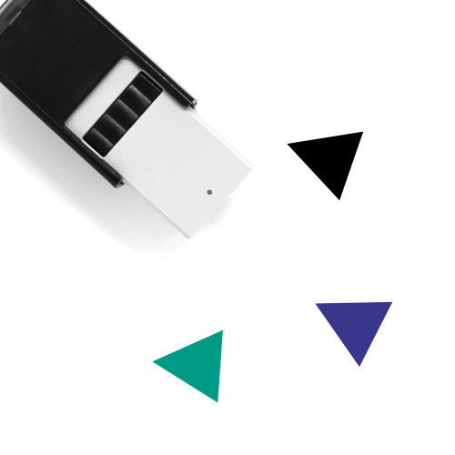 Triangle Left Self-Inking Rubber Stamp No. 5