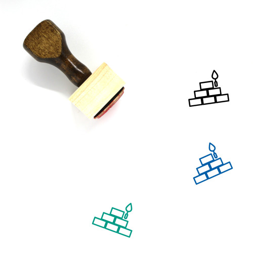 Construction Wooden Rubber Stamp No. 66