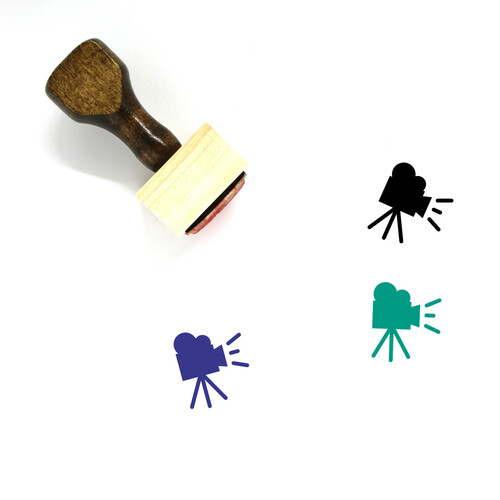 Video Camera Wooden Rubber Stamp No. 138