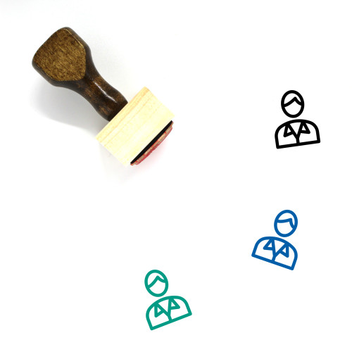 Secretary Wooden Rubber Stamp No. 36