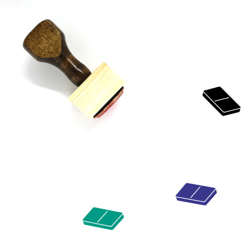 Domino Wooden Rubber Stamp No. 147