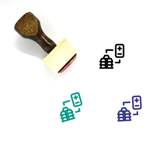 Golds Wooden Rubber Stamp No. 1