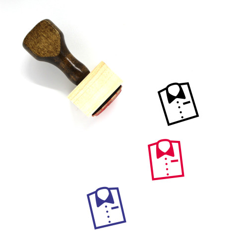 Clothes Wooden Rubber Stamp No. 187