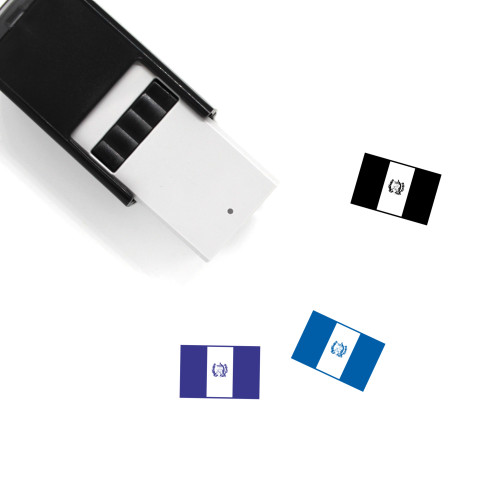 Guatemala Flag Self-Inking Rubber Stamp No. 1