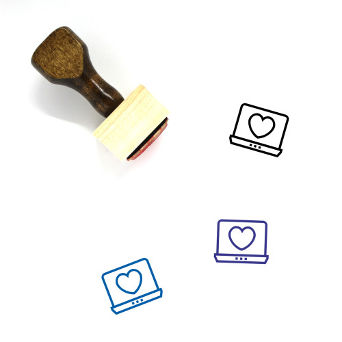 Dating Site Wooden Rubber Stamp No. 1