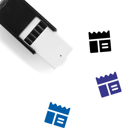 Webpage Layout Self-Inking Rubber Stamp No. 9