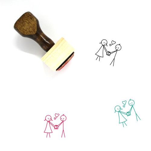 Love Gift Wooden Rubber Stamp No. 30