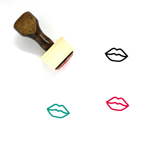 Lips Wooden Rubber Stamp No. 57
