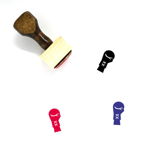 Boxing Glove Wooden Rubber Stamp No. 53
