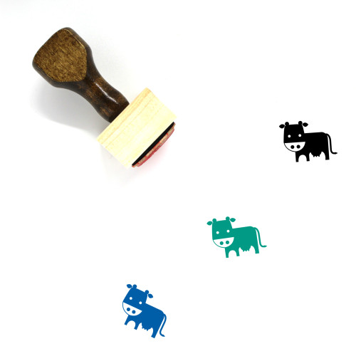 Cow Wooden Rubber Stamp No. 26