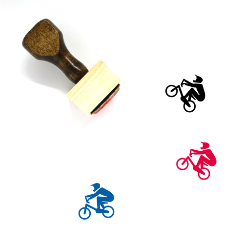 Bmx Wooden Rubber Stamp No. 18