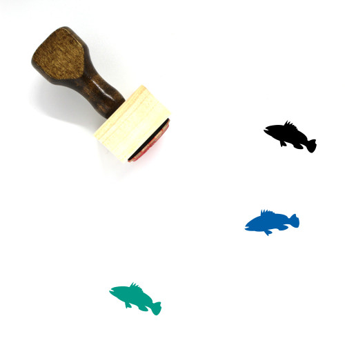 Grouper Wooden Rubber Stamp No. 2