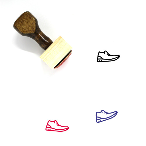Casual Shoes Wooden Rubber Stamp No. 11