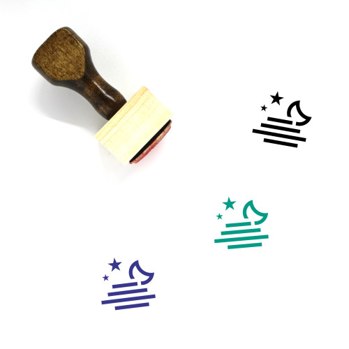 Foggy Night Wooden Rubber Stamp No. 15