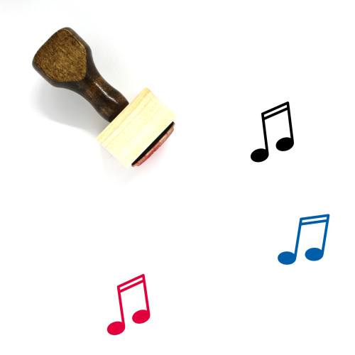 Music Note Wooden Rubber Stamp No. 82