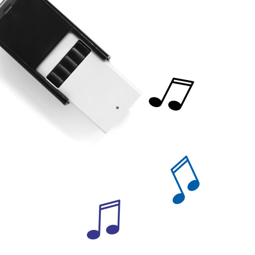 Music Note Self-Inking Rubber Stamp No. 82