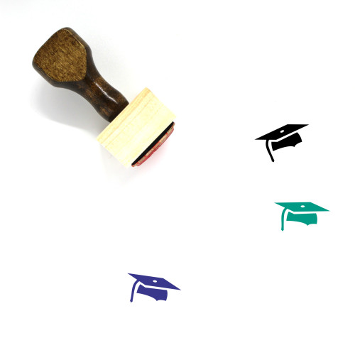 Mortar Board Wooden Rubber Stamp No. 47