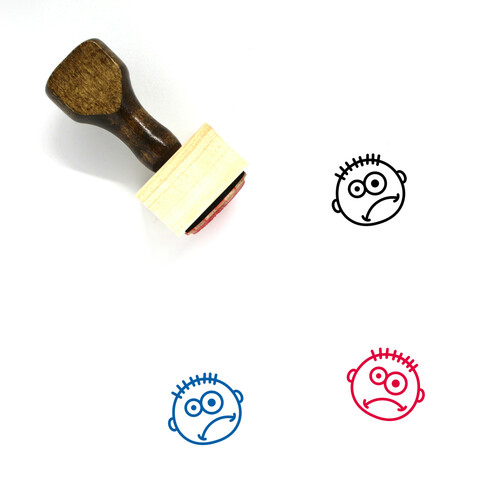 Confused Wooden Rubber Stamp No. 60