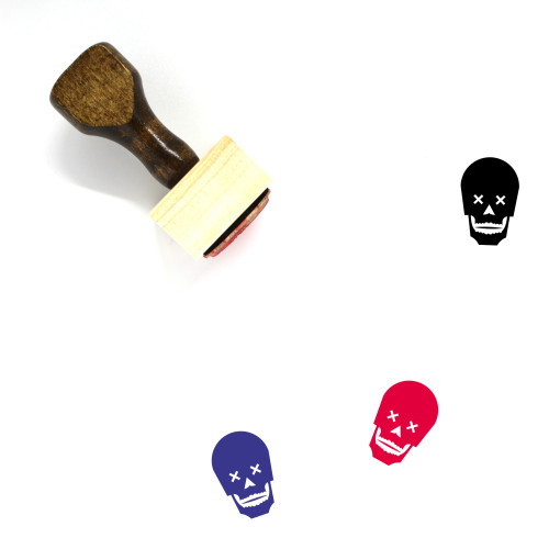 Skull Wooden Rubber Stamp No. 201