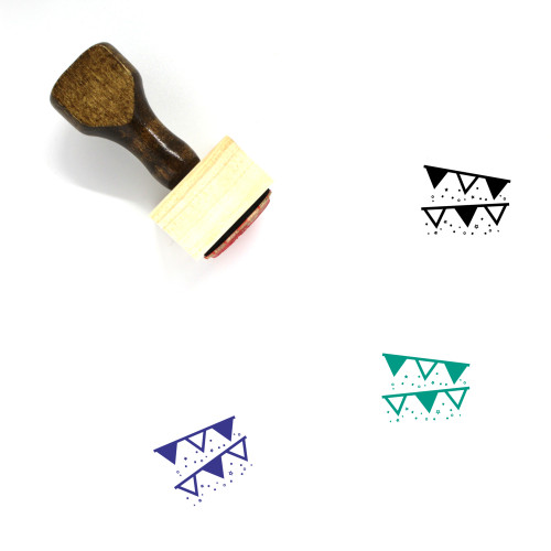 Streamers Wooden Rubber Stamp No. 12