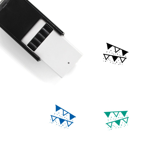 Streamers Self-Inking Rubber Stamp No. 12