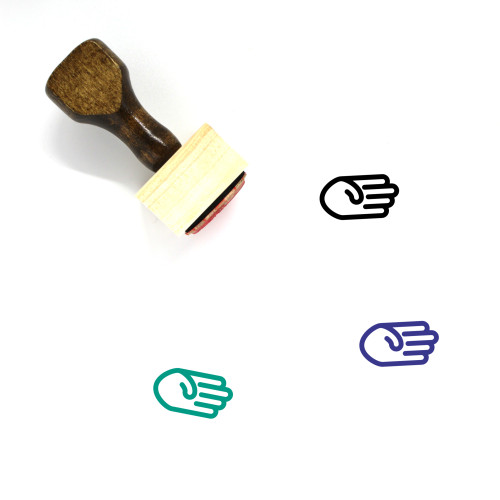 Touch Wooden Rubber Stamp No. 39