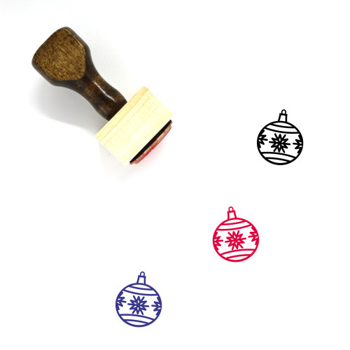 Ornament Wooden Rubber Stamp No. 185