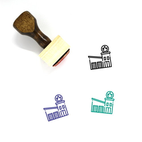Fire Station Wooden Rubber Stamp No. 35
