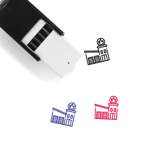Fire Station Self-Inking Rubber Stamp No. 35