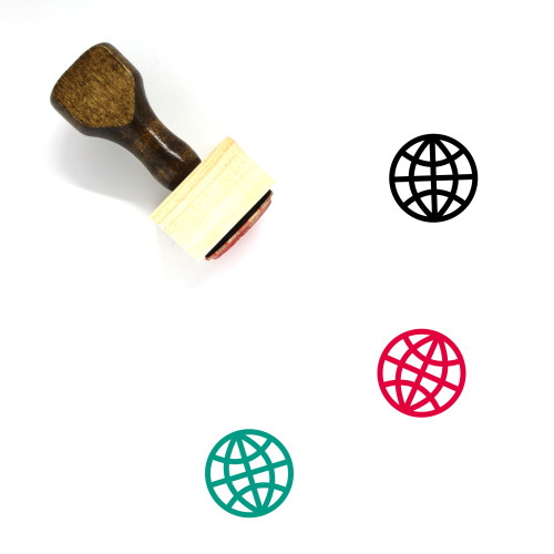 Globe Wooden Rubber Stamp No. 1330
